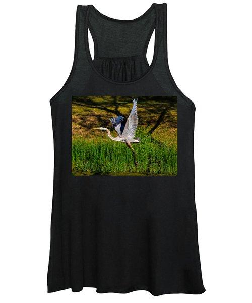 Blue Heron In Flight Women's Tank Top