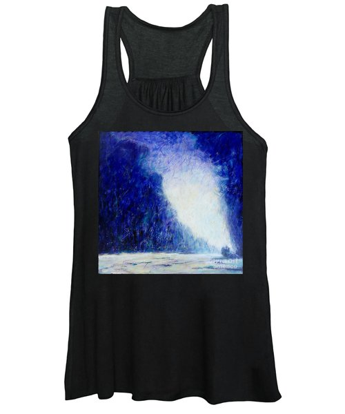 Blue Landscape - Abstract Women's Tank Top