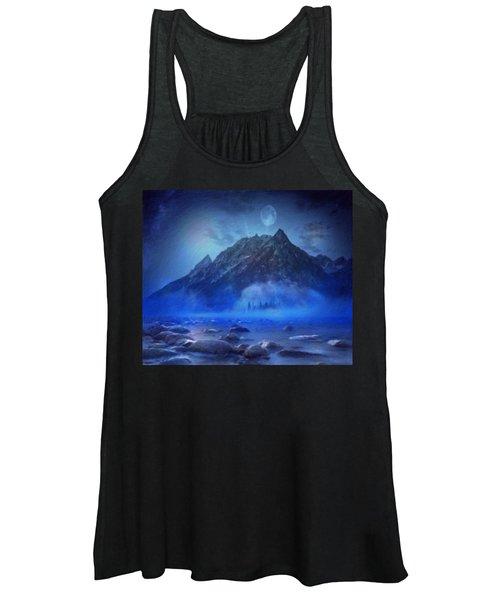 Blue Mist Rising Women's Tank Top