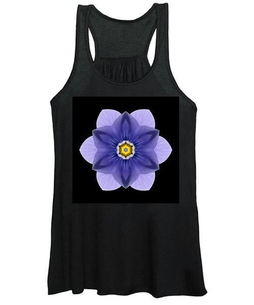 Blue Pansy I Flower Mandala Women's Tank Top
