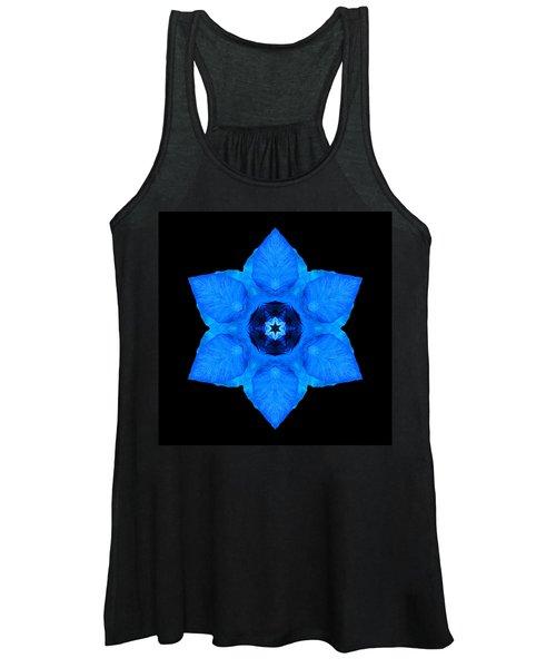 Blue Pansy II Flower Mandala Women's Tank Top