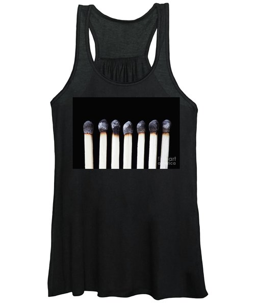Burnt Matches On Black Women's Tank Top
