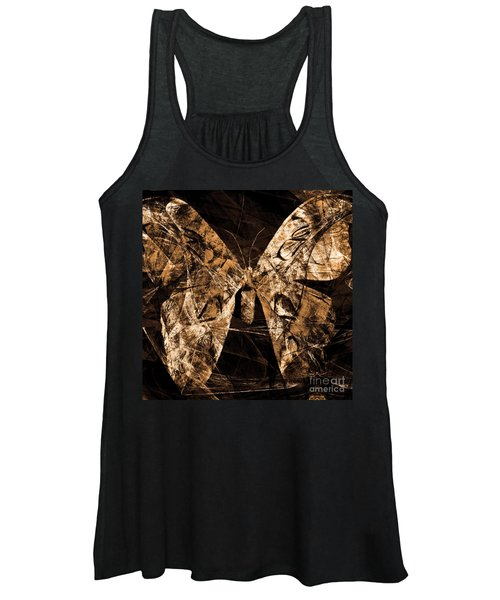 Butterfly In Abstract Dsc2977or Square Women's Tank Top