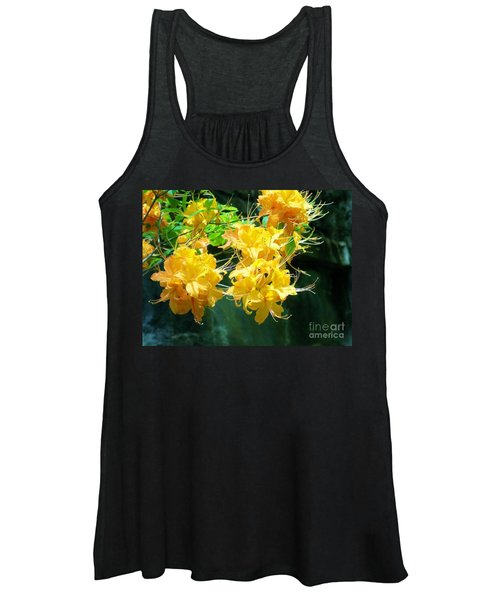Centered Yellow Floral Women's Tank Top