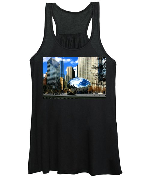 Chicago Skyline Bean Women's Tank Top