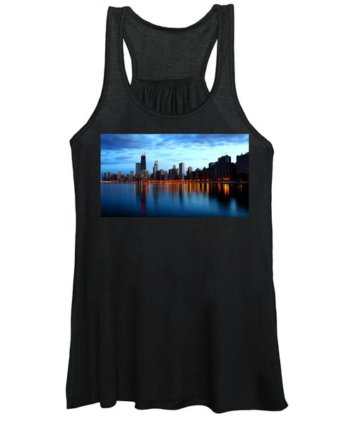 Chicago Skyline Dusk Women's Tank Top