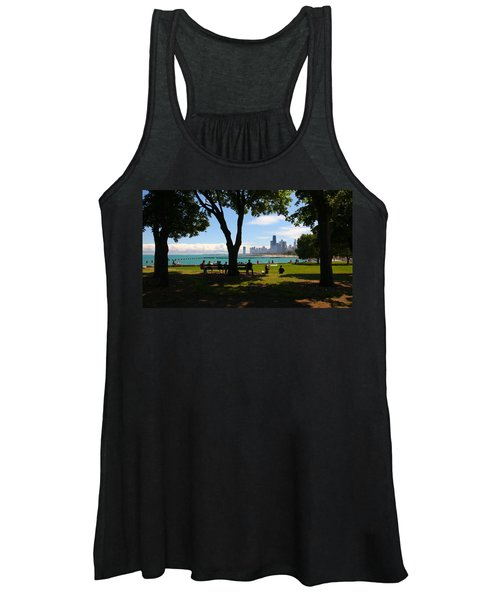 Chicago Skyline Lakefront Park Women's Tank Top