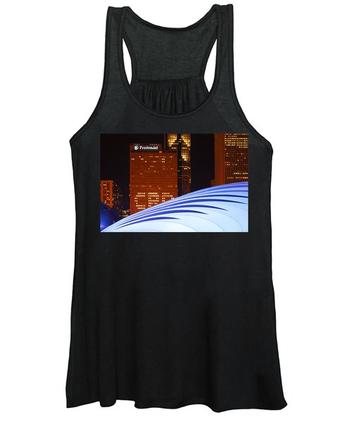 Chicago Skyline Orb Women's Tank Top