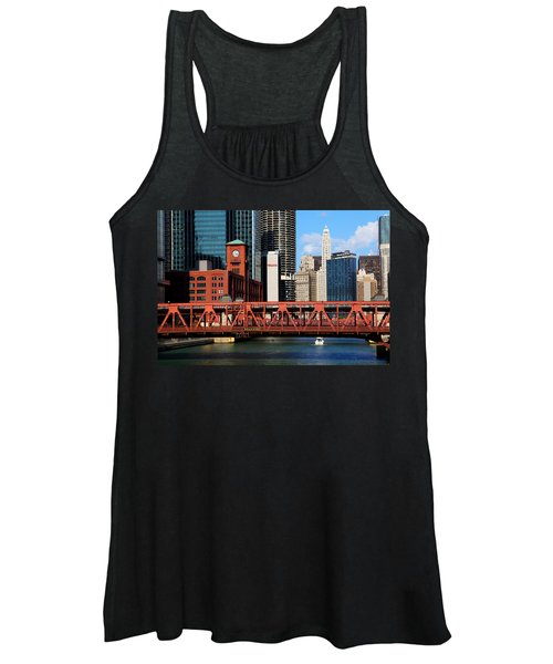 Chicago Skyline River Bridge Women's Tank Top