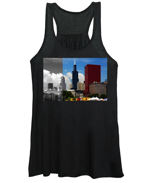 Chicago Skyline Sears Tower Women's Tank Top