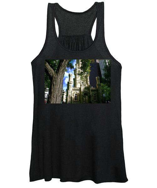 Chicago Water Tower Castle Women's Tank Top