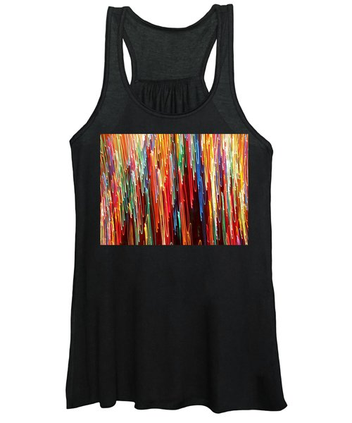 Women's Tank Top featuring the photograph  A Rainbow Melting  by Rick Locke