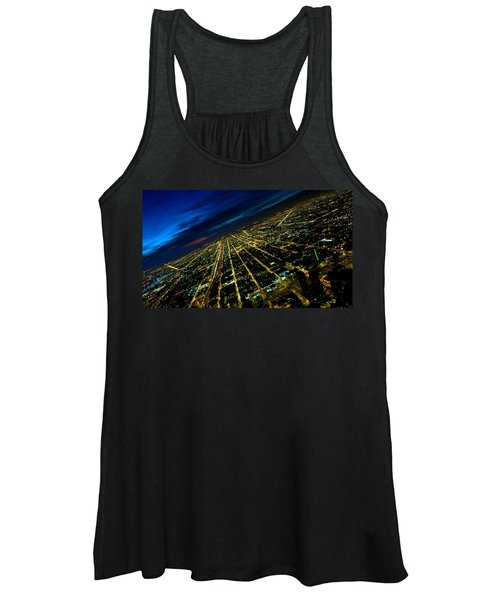City Street Lights Above Women's Tank Top