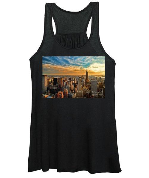 City Sunset New York City Usa Women's Tank Top