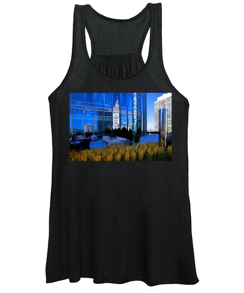 Clock Tower Reflection Women's Tank Top