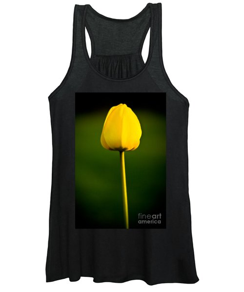 Closed Yellow Flower Women's Tank Top