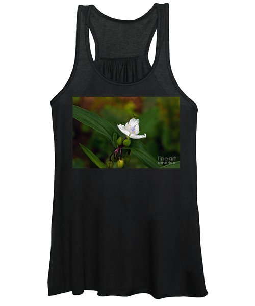 Come Into My Parlor Said The Spiderwort To The Hoverfly Women's Tank Top