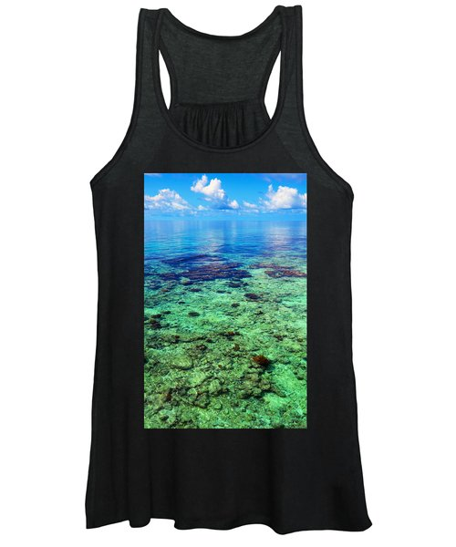 Coral Reef Near The Island At Peaceful Day. Maldives Women's Tank Top