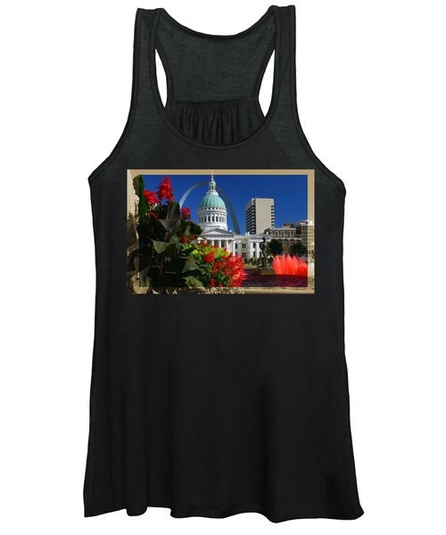 Courthouse Arch Skyline Fountain Women's Tank Top