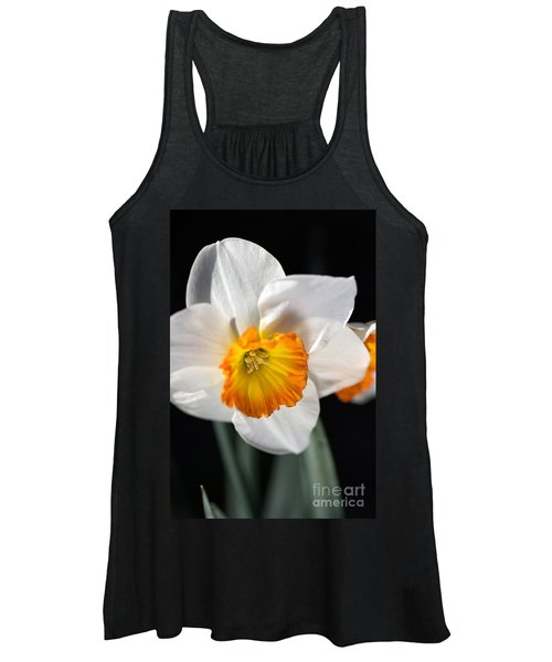 Daffodil In White Women's Tank Top