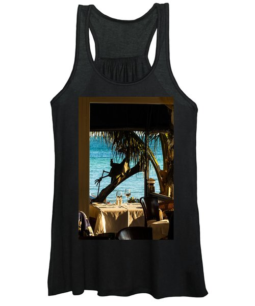 Dining For Two At Louie's Backyard Women's Tank Top