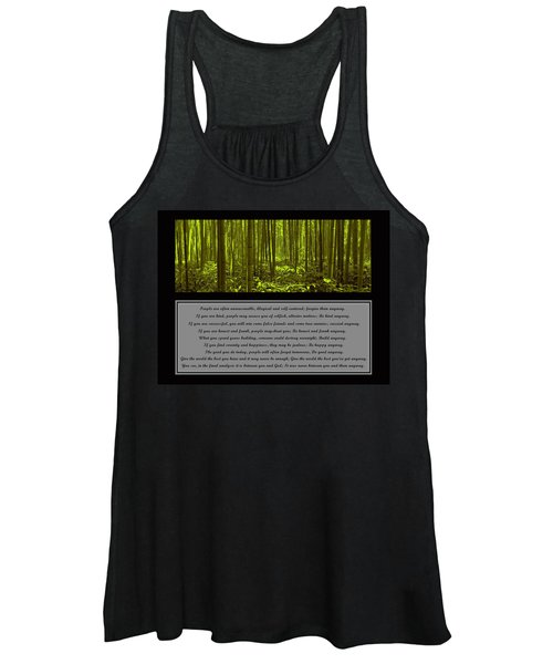Do It Anyway Bamboo Forest Women's Tank Top