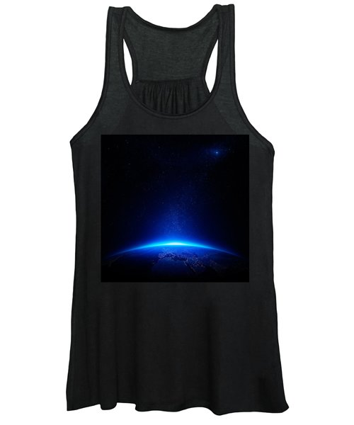 Earth At Night With City Lights Women's Tank Top