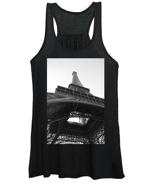 Eiffel Tower B/w Women's Tank Top