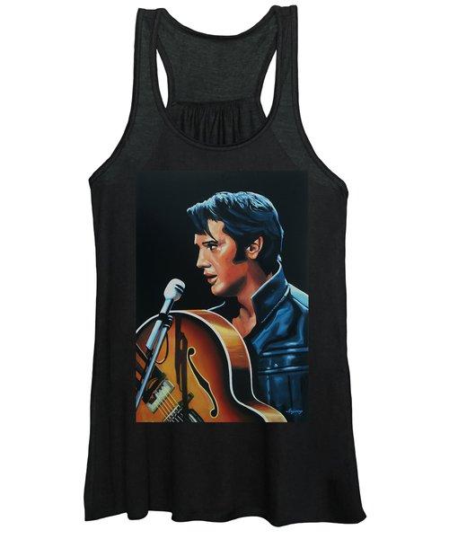 Elvis Presley 3 Painting Women's Tank Top