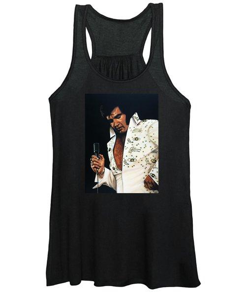 Elvis Presley Painting Women's Tank Top