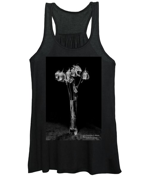 Faded Long Stems - Bw Women's Tank Top