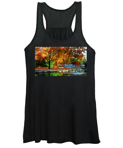 Fall Trees Landscape Stream Women's Tank Top