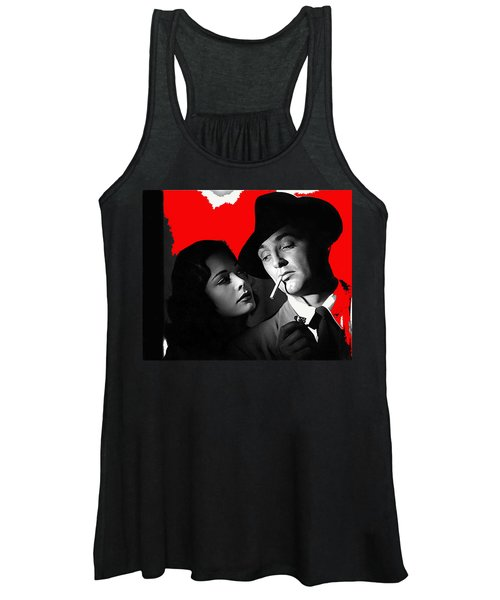 Film Noir Jane Greer Robert Mitchum Out Of The Past 1947 Rko Color Added 2012 Women's Tank Top
