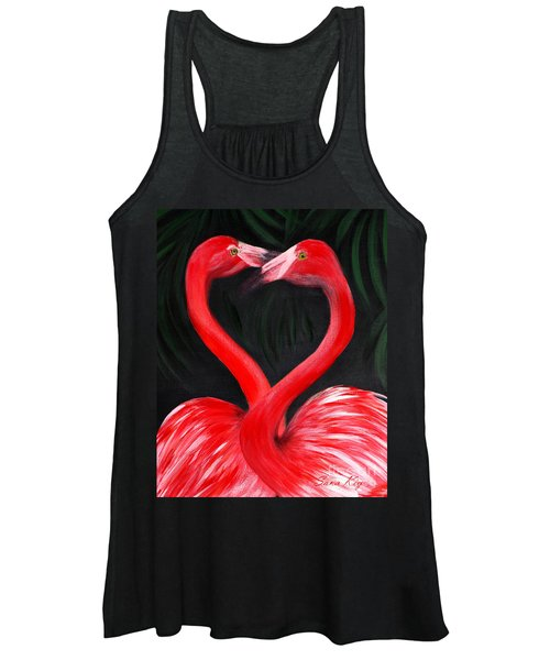 Love  Is... Flamingo Love. Inspirations Collection Women's Tank Top