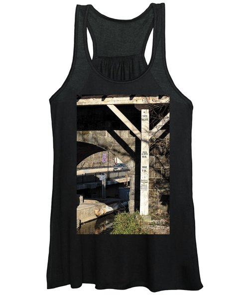 Flood Height Sign At Ellicott City Maryland Women's Tank Top