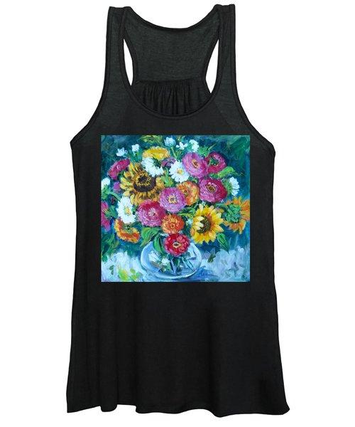 Floral Explosion No.1 Women's Tank Top