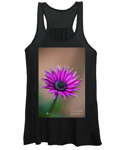 Flower-daisy-purple Women's Tank Top
