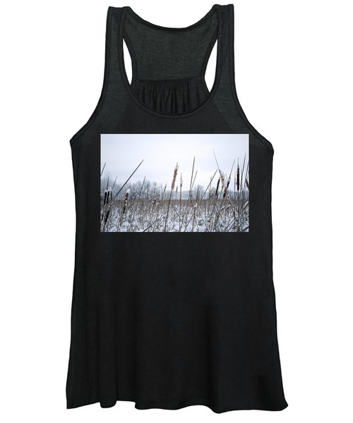 Frosty Cattails Women's Tank Top