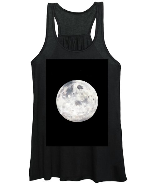 Full Moon In Black Night Women's Tank Top