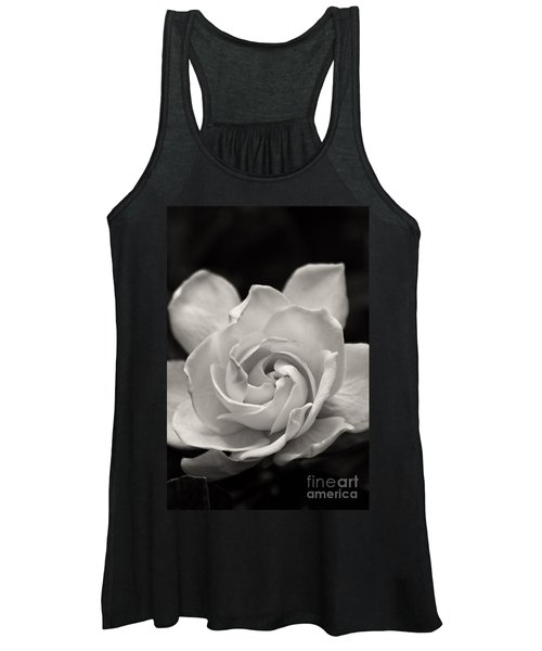 Gardenia Bloom In Sepia Women's Tank Top