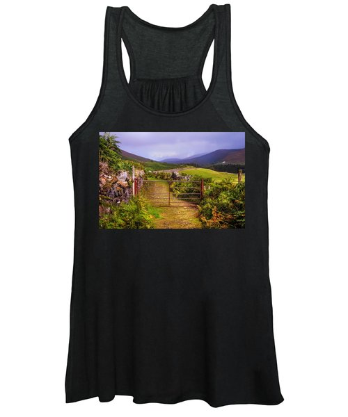 Gates On The Road. Wicklow Hills. Ireland Women's Tank Top