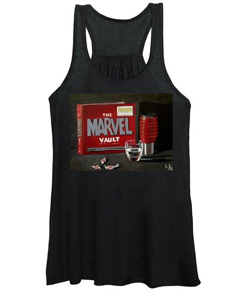 Marvel Comic's Still Life Acrylic Painting Art Women's Tank Top
