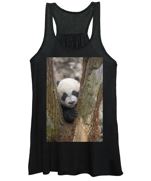 Giant Panda Cub Bifengxia Panda Base Women's Tank Top