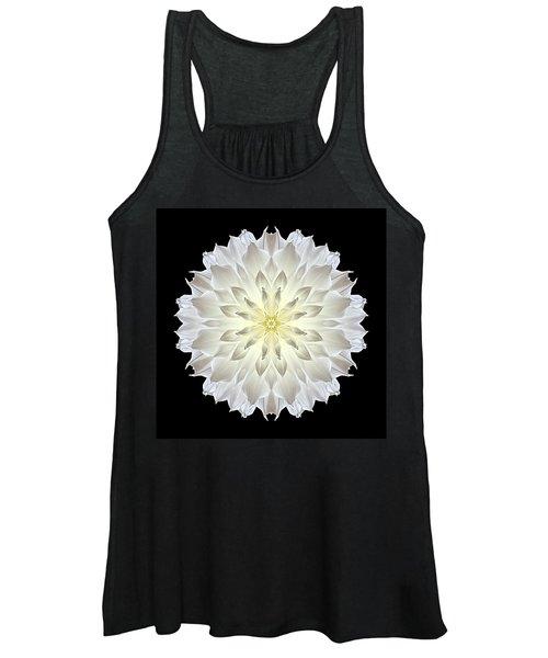 Giant White Dahlia Flower Mandala Women's Tank Top