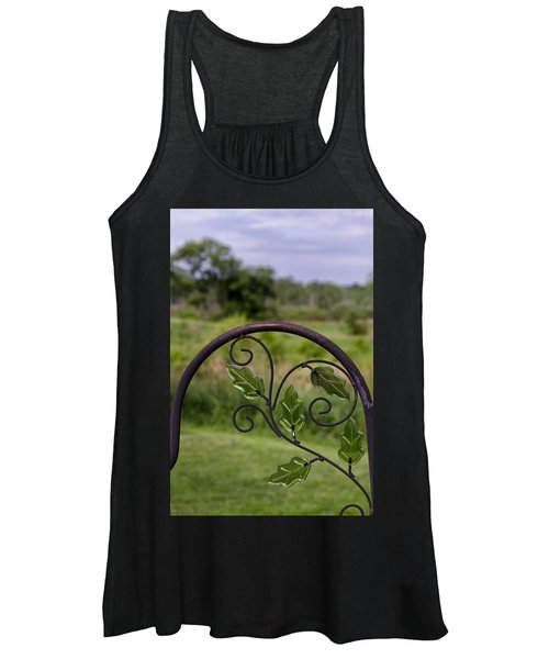 Glass Leaves Women's Tank Top