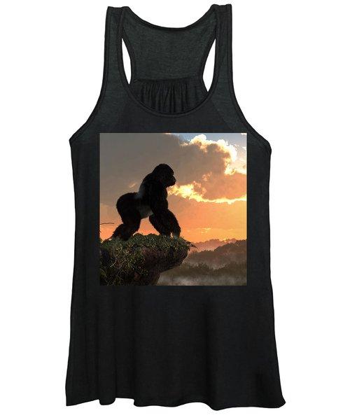 Gorilla Sunset Women's Tank Top