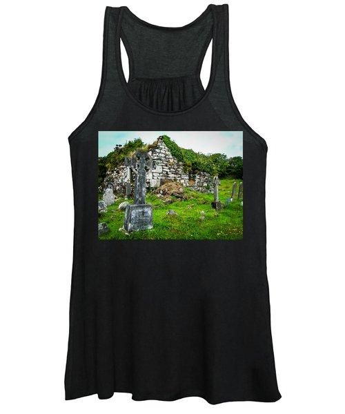 Women's Tank Top featuring the photograph Graveyard And Church Ruins On Ireland's Mizen Peninsula by James Truett