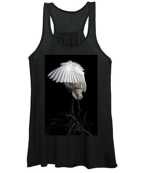 Great Egret Bowing Women's Tank Top