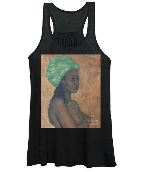 Green Headwrap Women's Tank Top