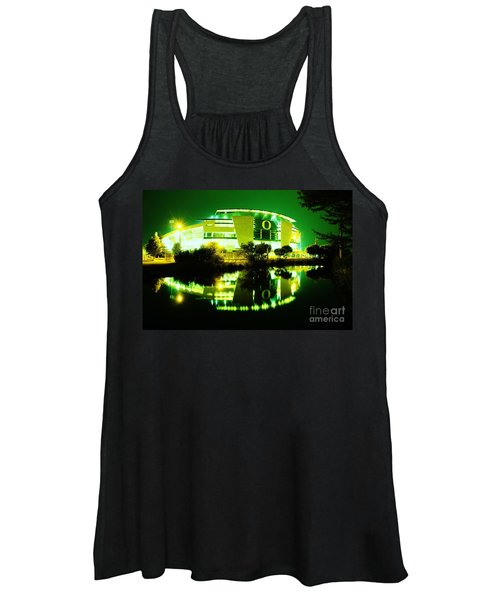 Green Power- Autzen At Night Women's Tank Top